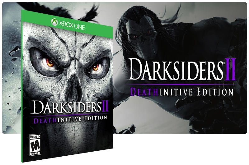 Banner do game Darksiders 2 Deathinitive Edition em mídia digital para Xbox One