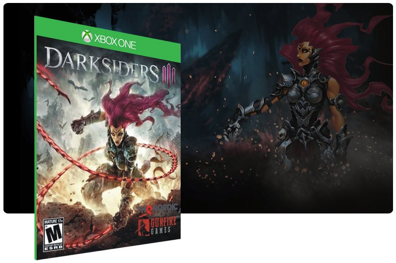 Banner do game Darksiders 3 em mídia digital para Xbox One