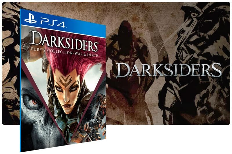 Banner do game Darksiders Furys Collection War And Death para PS4