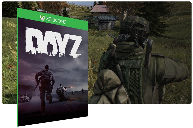 Banner do game DayZ em mídia digital para Xbox One