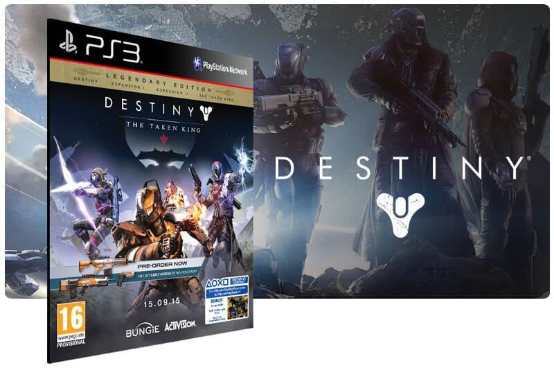 Banner do game Destiny The Taken King Legendary Edition para PS3