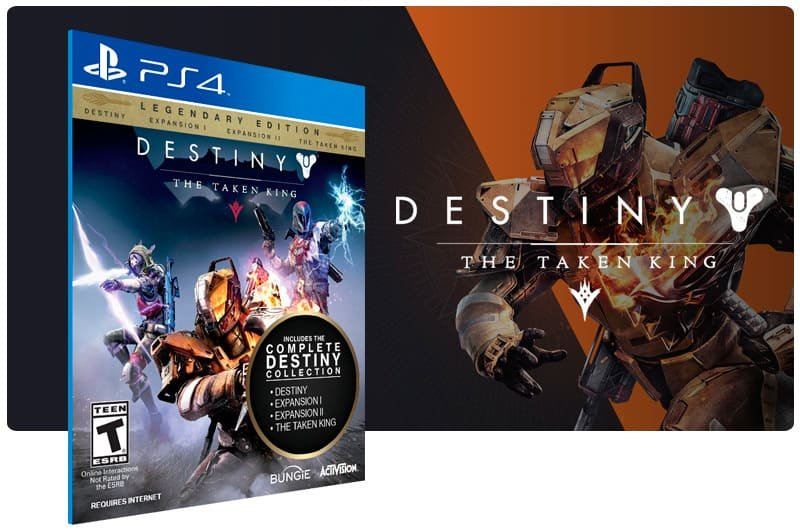 Banner do game Destiny The Taken King Legendary Edition para PS4