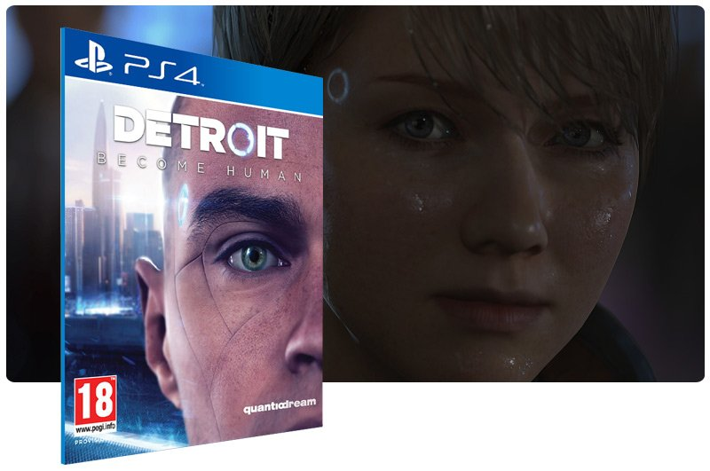 Banner do game Detroit Become Human em mídia digital para PS4