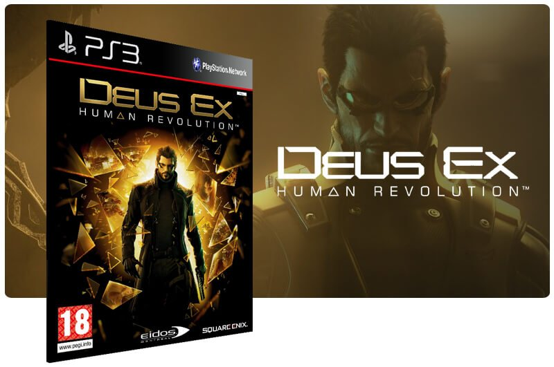 Banner do game Deus Ex Human Revolution para PS3