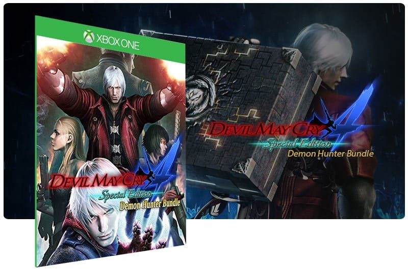 Banner do game Devil May Cry 4: Demon Hunter Bundle em mídia digital para Xbox One