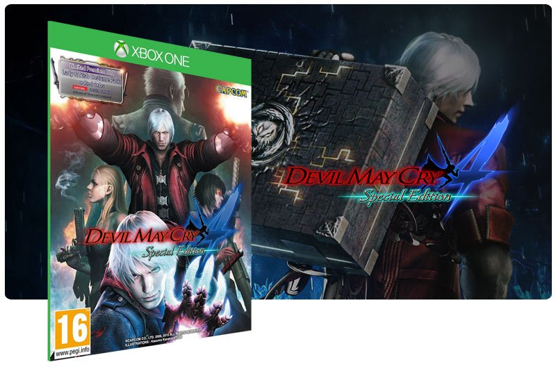 Banner do game Devil May Cry 4 Special Edition em mídia digital para Xbox One