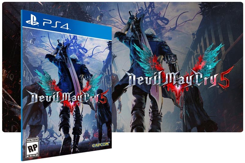 Banner do game Devil May Cry 5 para PS4