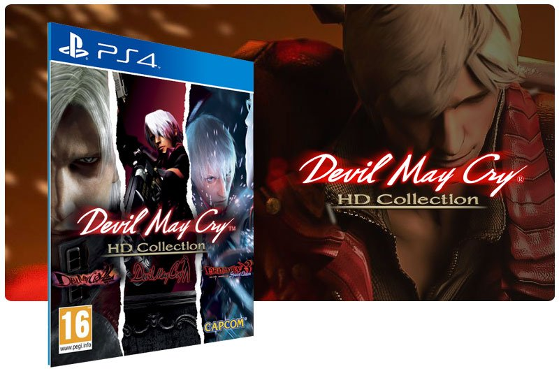 Banner do game Devil May Cry HD Collection em mídia digital para PS4