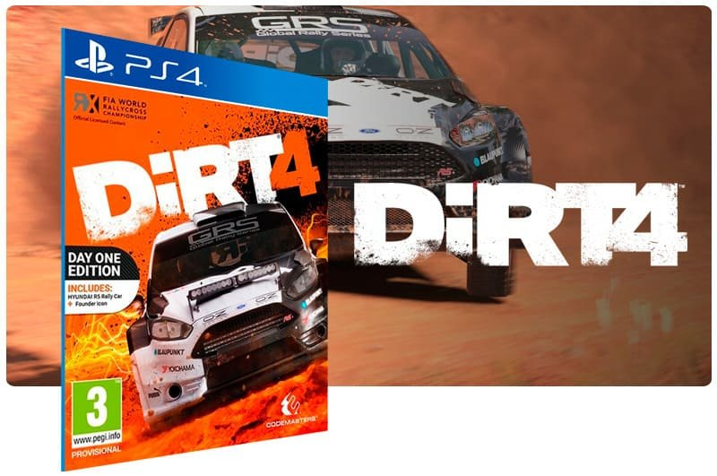 Banner do game DiRT 4 para PS4