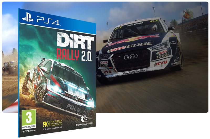 Banner do game DiRT Rally 2.0 para PS4