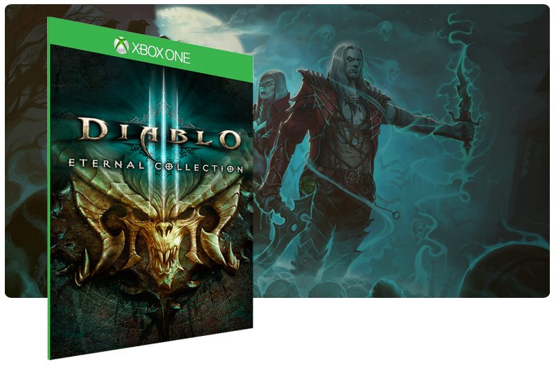 Banner do game Diablo 3: Eternal Collection em mídia digital para Xbox One