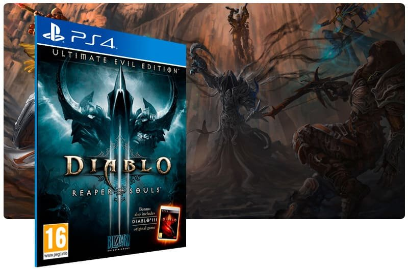 Banner do game Diablo 3 Reaper Of Souls Ultimate Evil Edition para PS4