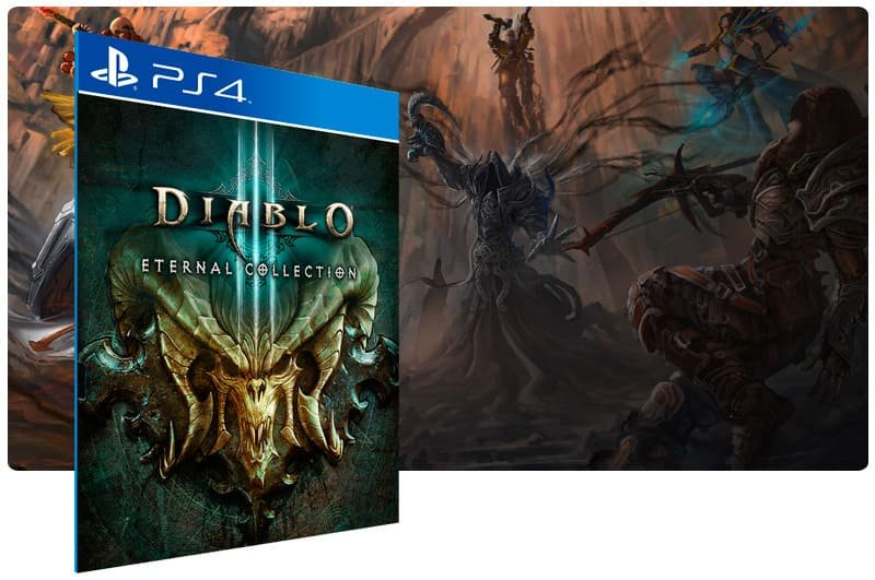 Banner do game Diablo 3 Eternal Collection para PS4