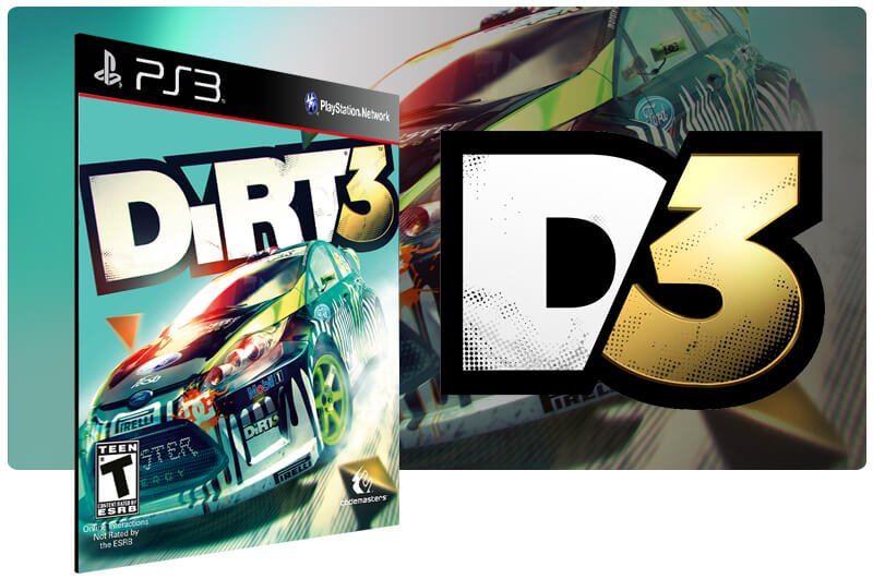 Banner do game Dirt 3 para PS3