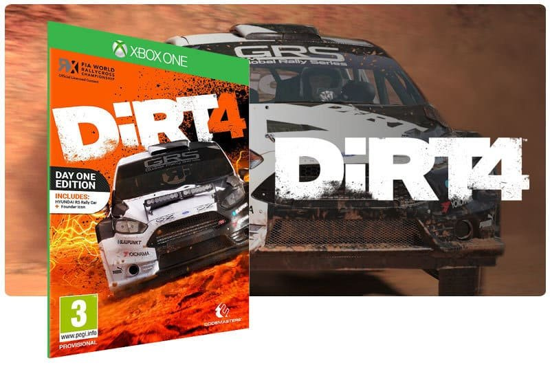 Banner do game Dirt 4 em mídia digital para Xbox One