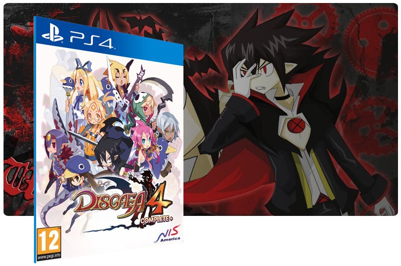 Banner do game Disgaea 4 Complete+ em mídia digital para PS4