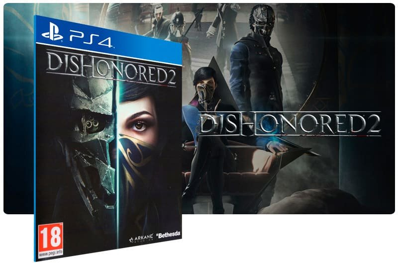 Banner do game Dishonored 2 para PS4