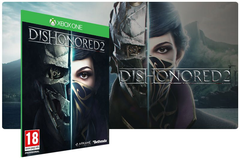 Banner do game Dishonored 2 em mídia digital para Xbox One
