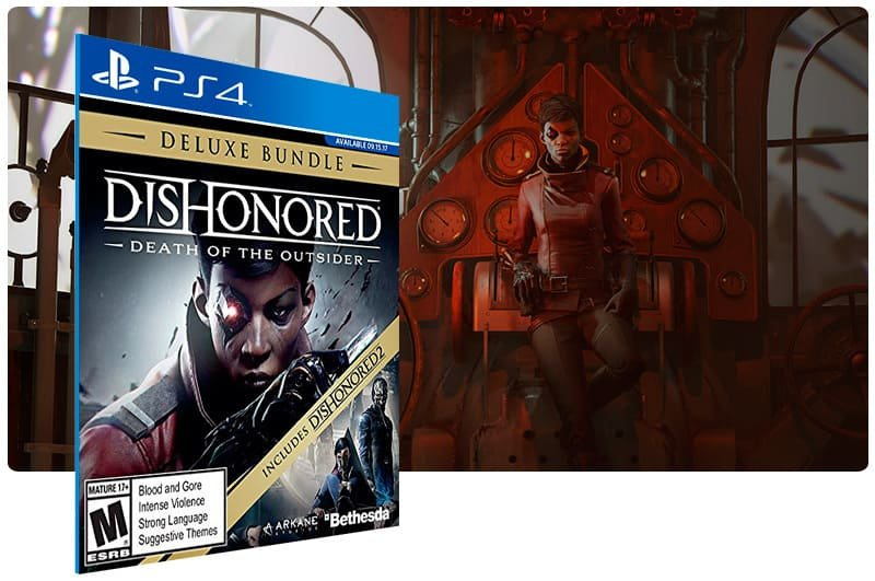Banner do game Dishonored Death of the Outsider Deluxe Bundle para PS4
