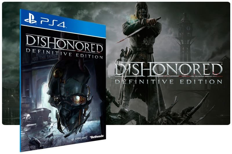 Banner do game Dishonored Definitive Edition para PS4