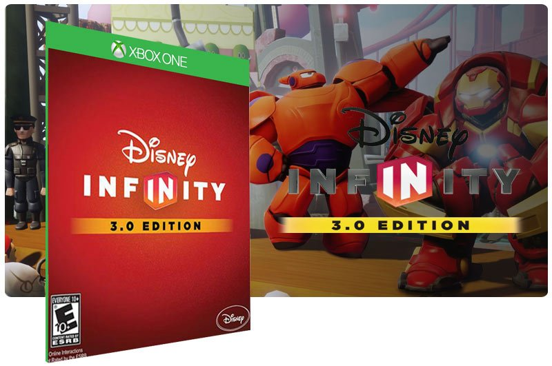 Banner do game Disney Infinity (Edition 3.0) em mídia digital para Xbox One