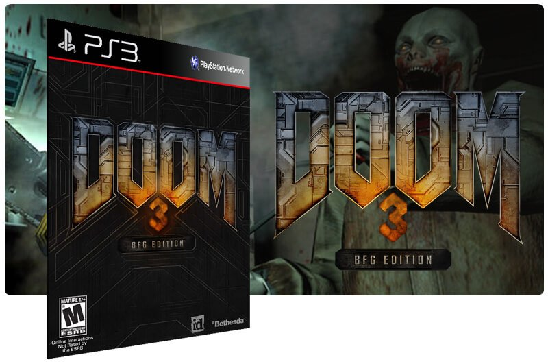 Banner do game Doom 3 para PS3