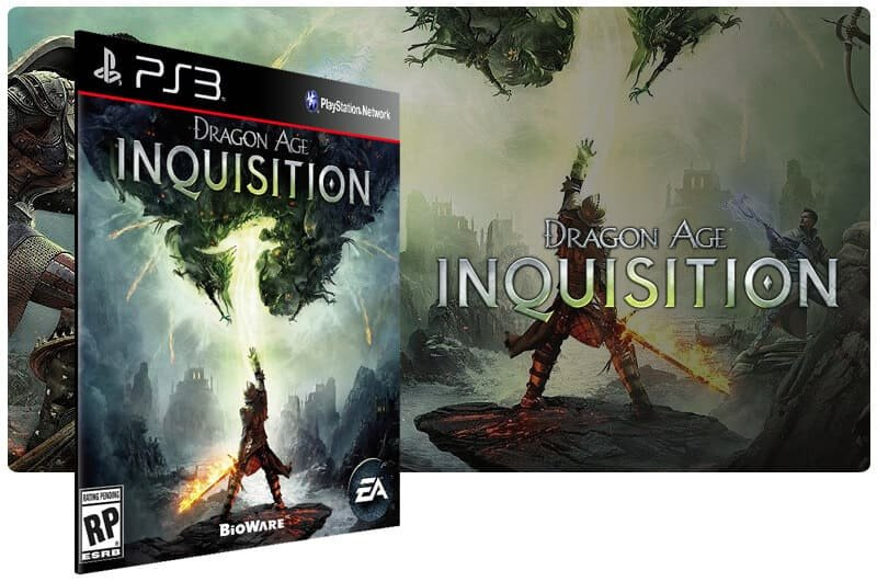 Banner do game Dragon Age Inquisition para PS3
