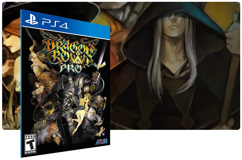Banner do game Dragons Crown Pro em mídia digital para PS4