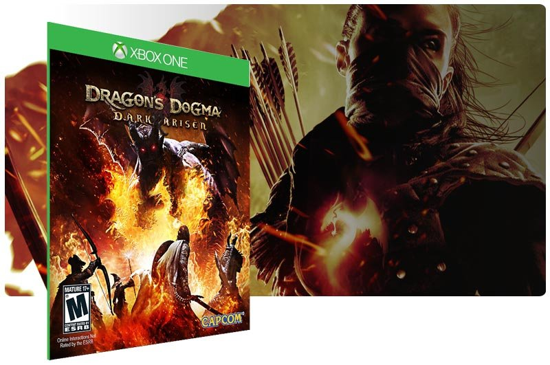 Banner do game Dragons Dogma Dark Arisen em mídia digital para Xbox One