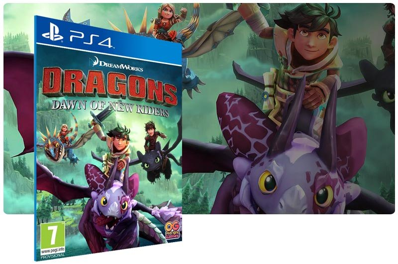 Banner do game DreamWorks Dragons Dawn of New Riders para PS4