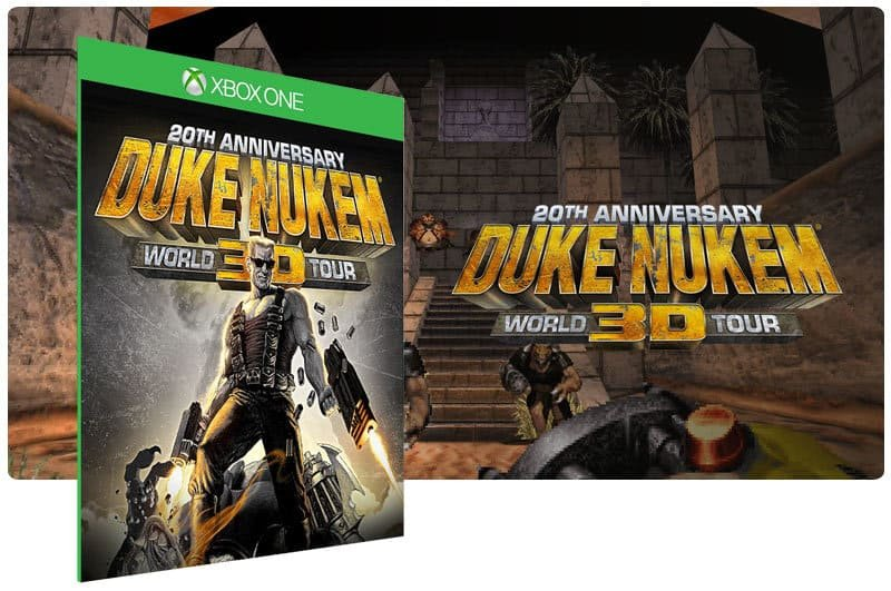 Banner do game Duke Nukem 3D: 20Th Anniversary World Tour em mídia digital para Xbox One