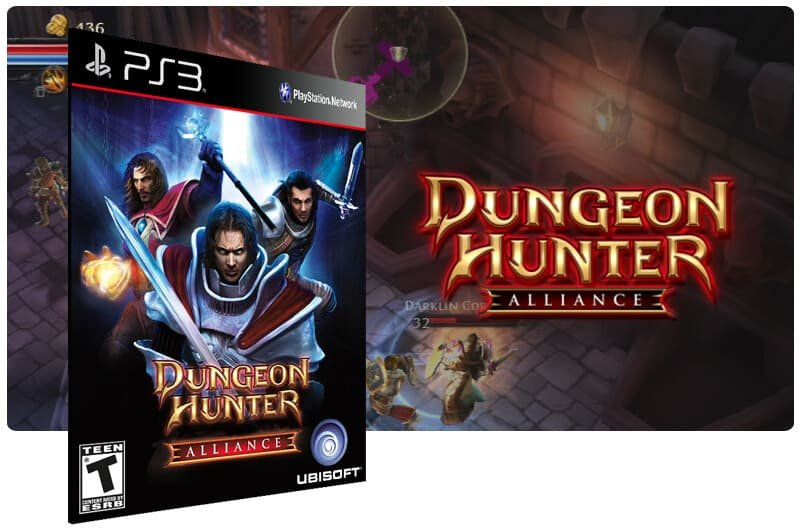 Banner do game Dungeon Hunter Alliance para PS3