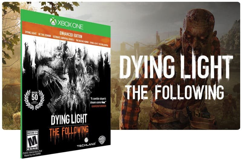 Banner do game Dying Light: The Following em mídia digital para Xbox One