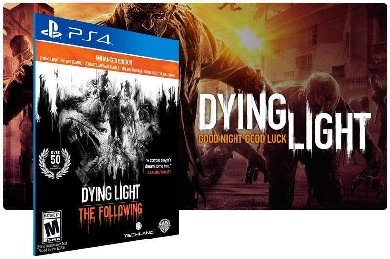 Banner do game Dying Light: The Following Enhanced Edition para PS4