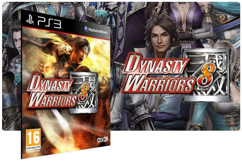 Banner do game Dynasty Warriors 8 para PS3