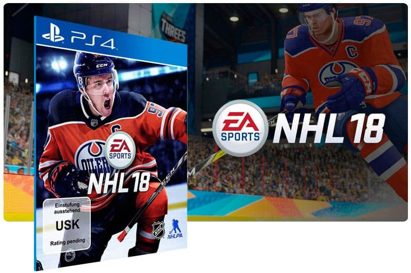 Banner do game NHL 18 Standard Edition para PS4