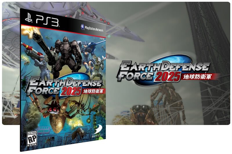 Banner do game Earth Defense Force 2025 para PS3