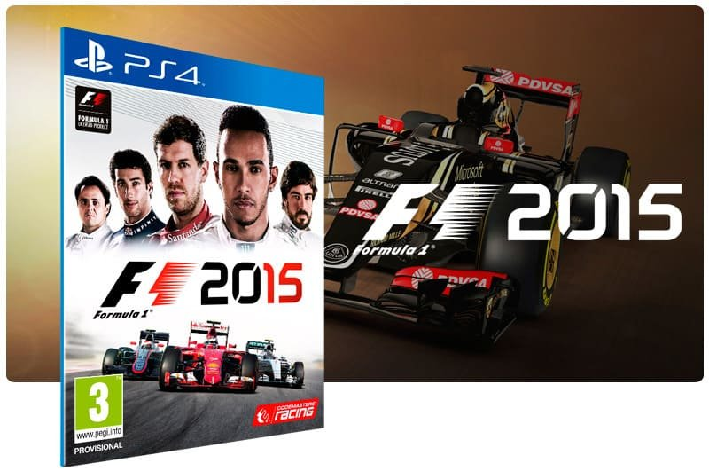 Banner do game F1 2015 para PS4