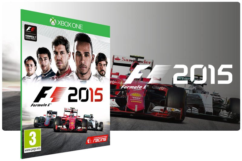 Banner do game F1 2015 em mídia digital para Xbox One