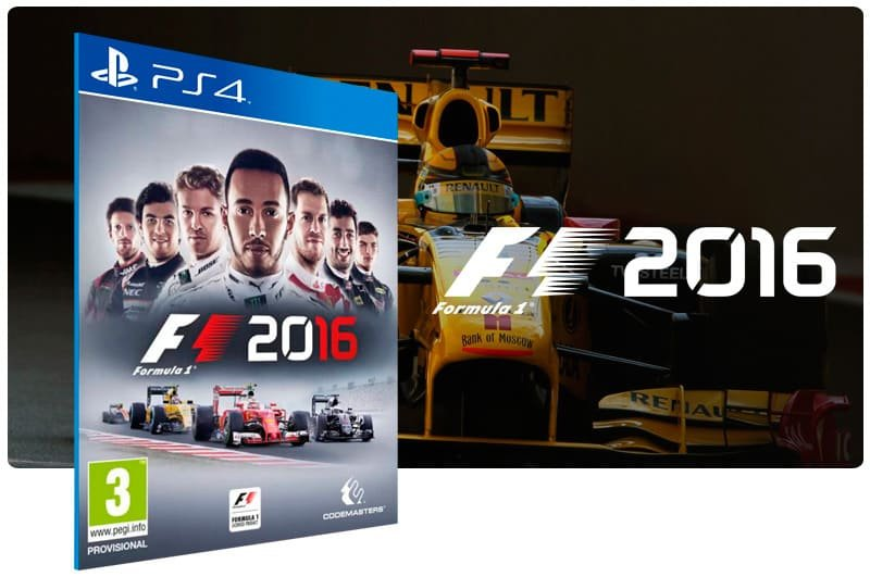 Banner do game F1 2016 para PS4