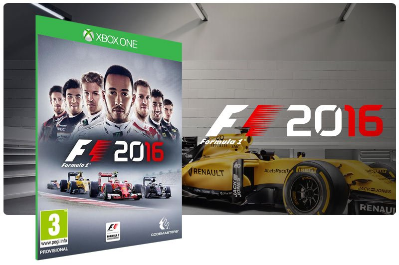 Banner do game F1 2016 em mídia digital para Xbox One