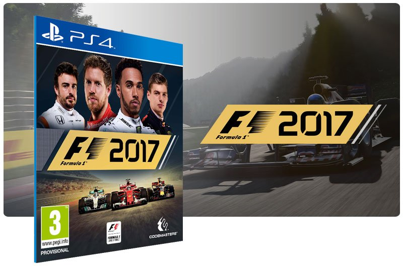 Banner do game F1 2017 para PS4