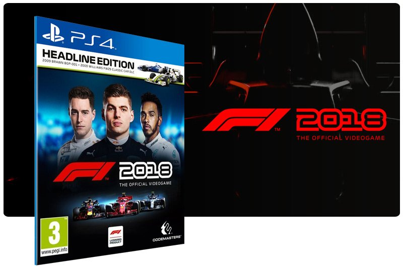 Banner do game F1 2018 Headline Edition para PS4