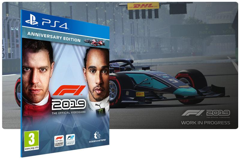 Banner do game F1 2019 Anniversary Edition em mídia digital para PS4