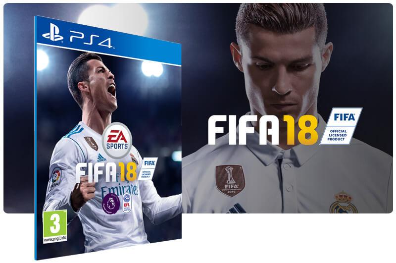 Banner do game Fifa 18 para PS4
