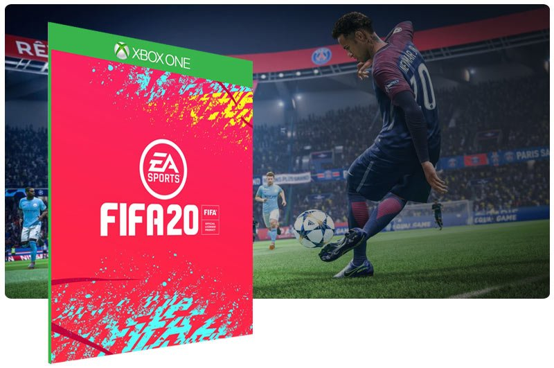 Banner do game FIFA 20 Standard Edition em mídia digital para Xbox One