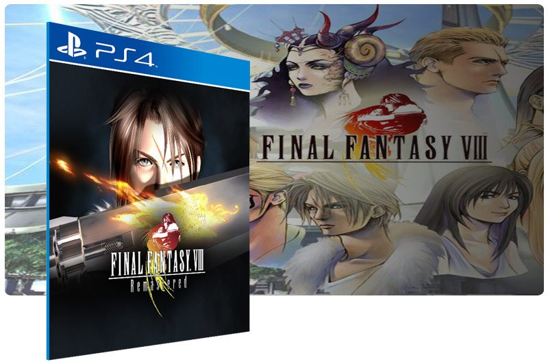Banner do game FINAL FANTASY VIII Remastered para PS4