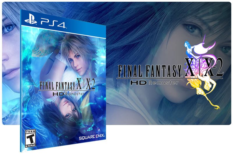 Banner do game FINAL FANTASY X/X-2 HD Remaster em mídia digital para PS4