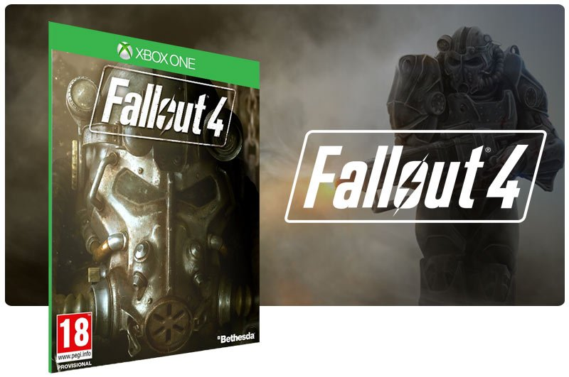 Banner do game Fallout 4 em mídia digital para Xbox One