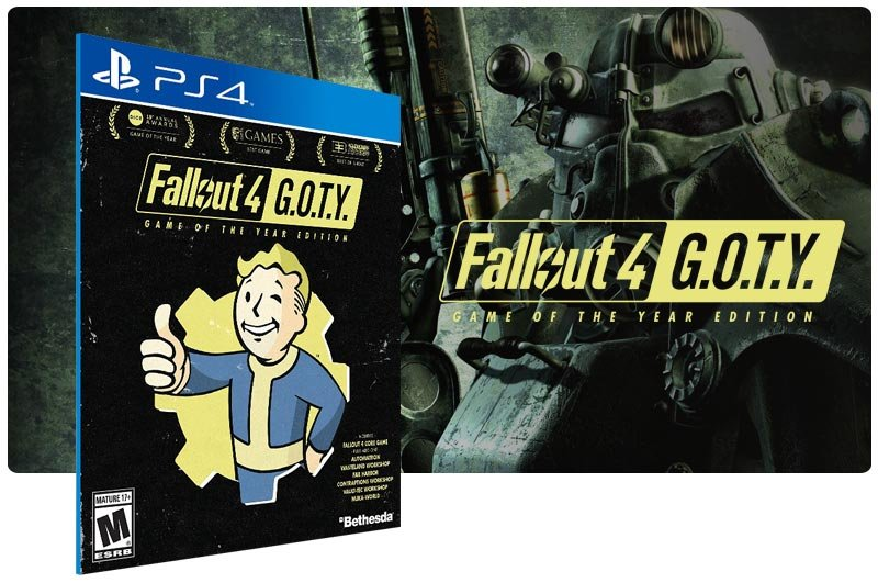 Banner do game Fallout 4 Game of the Year Edition para PS4